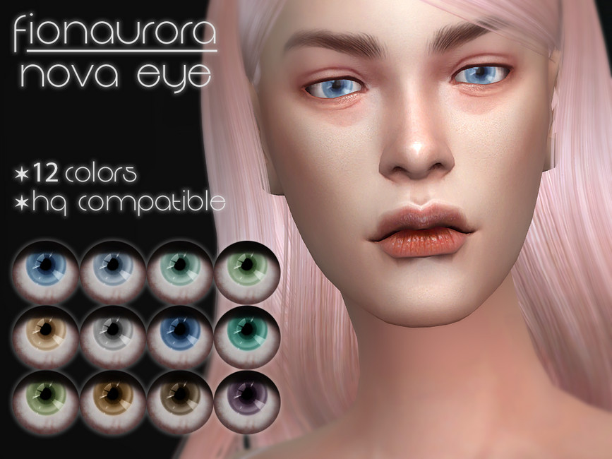 Линзы для Симс 4 Nova Eye от Fionaurora