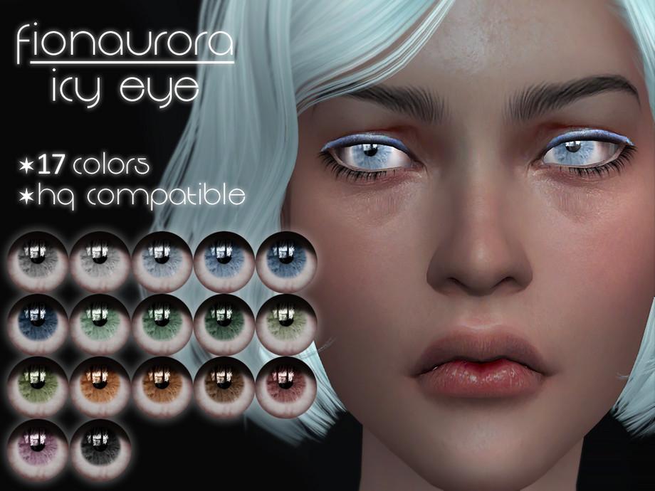 Линзы для Симс 4 Icy Eye от Fionaurora