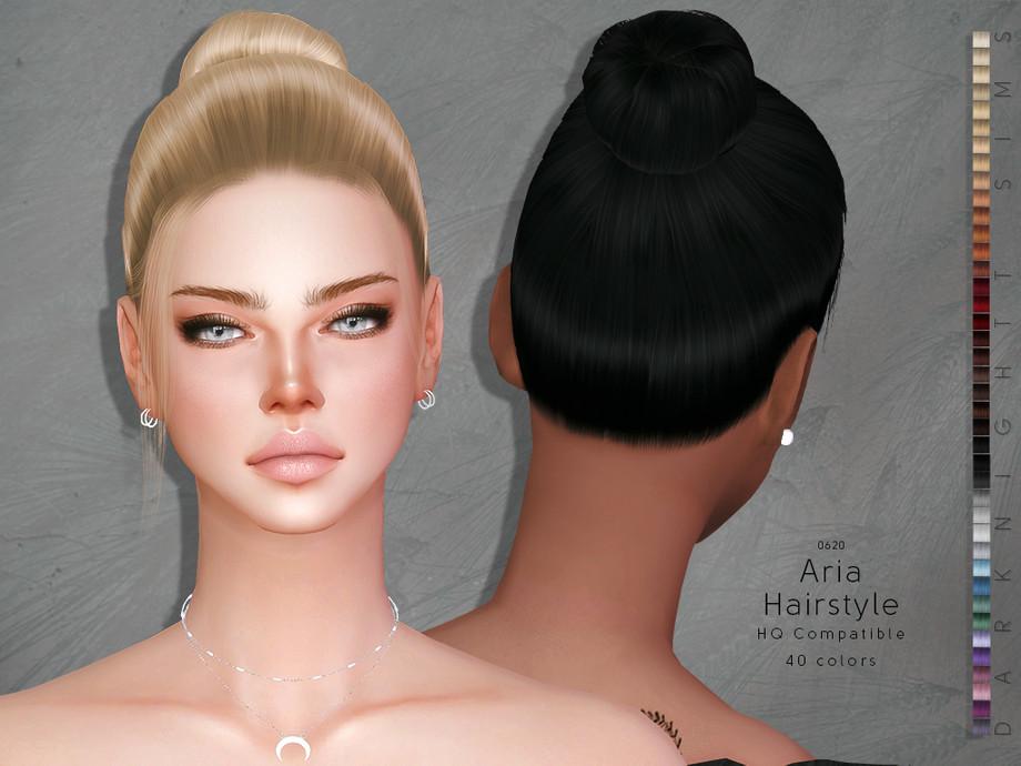 Прическа Aria от DarkNighTt для Симс 4