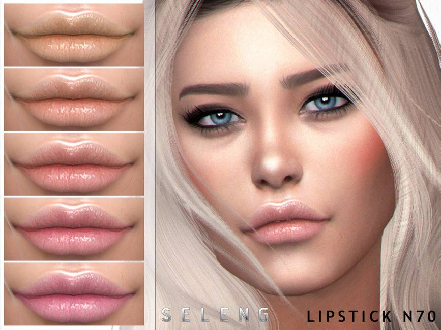 Блеск для губ Lipstick N70 для Симс 4