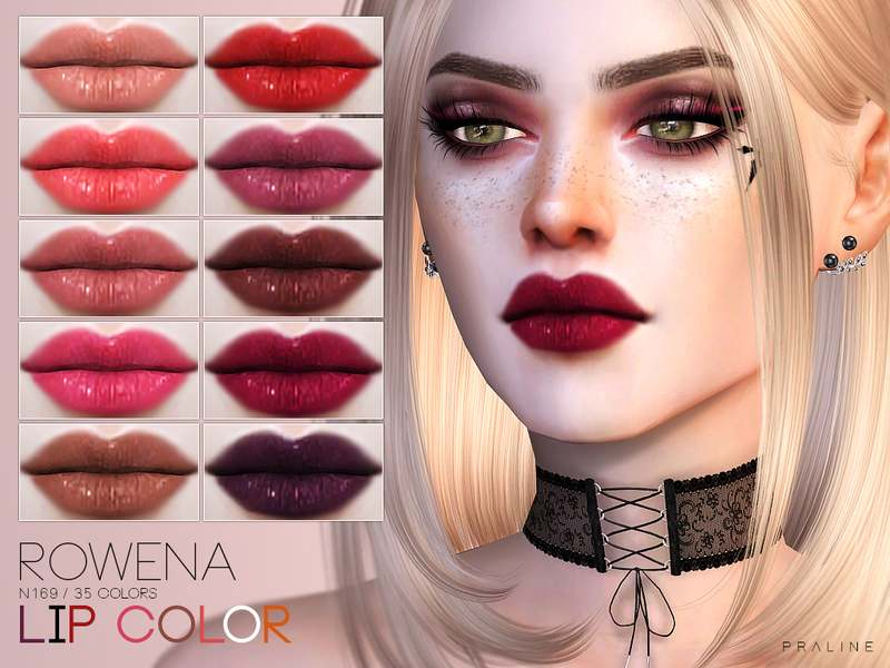 Блеск для губ Rowena Lip Color N169 для Симс 4