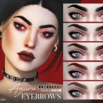 Брови Azura Eyebrows N118 от Pralinesims для Симс 4