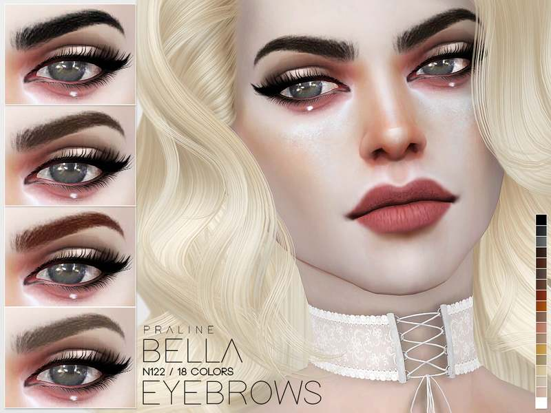 Брови Bella Eyebrows N122 для Симс 4