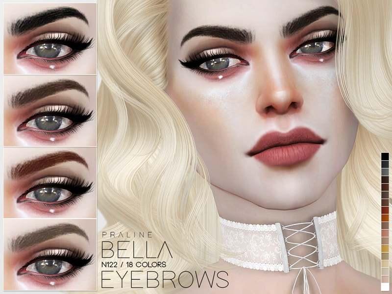 Брови Bella Eyebrows N122 для Симс 4