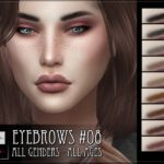 Брови Eyebrows 08 от RemusSirion для Симс 4