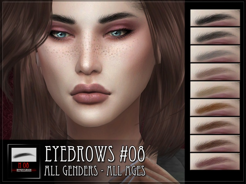 Брови Eyebrows 08 от RemusSirion для Симс 4