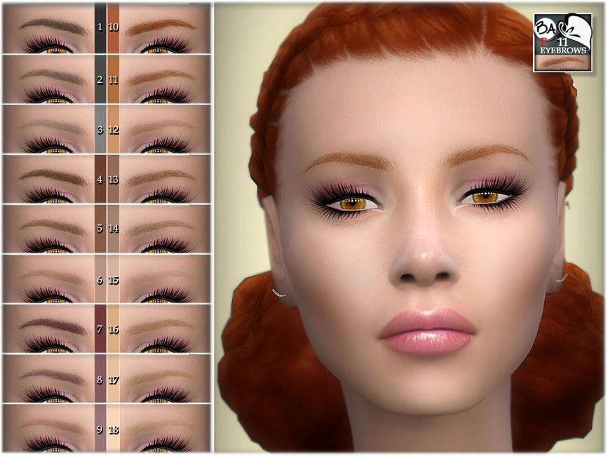 Брови Eyebrows 11 для Симс 4