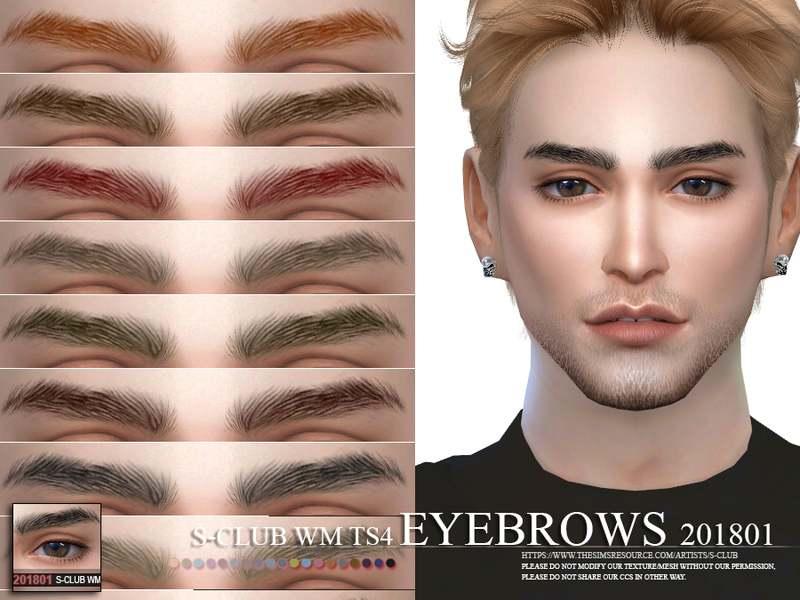 Брови Eyebrows 201801 для Симс 4