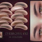 Реалистичные брови Eyebrows 30 для Симс 4