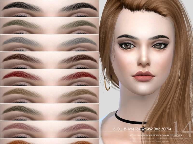 Брови Eyebrows F201714 для Симс 4