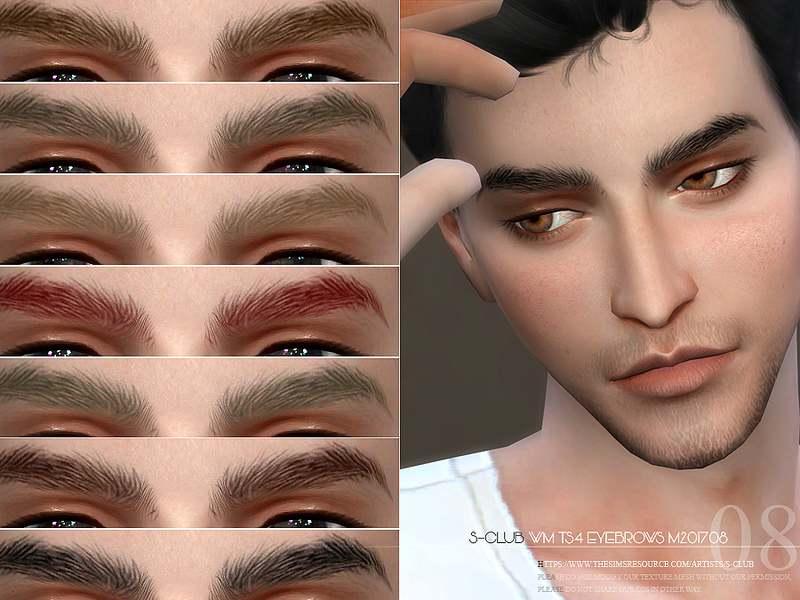 Брови Eyebrows M201708 для Симс 4