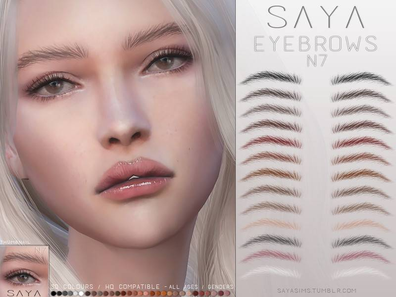 Брови Eyebrows N7 для Симс 4