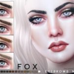 Брови Fox Eyebrows N105 от Pralinesims для Симс 4