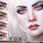 Брови Fox Eyebrows N105 от Pralinesims для Симс 4