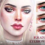 Брови Igraine Eyebrows N109 для Симс 4