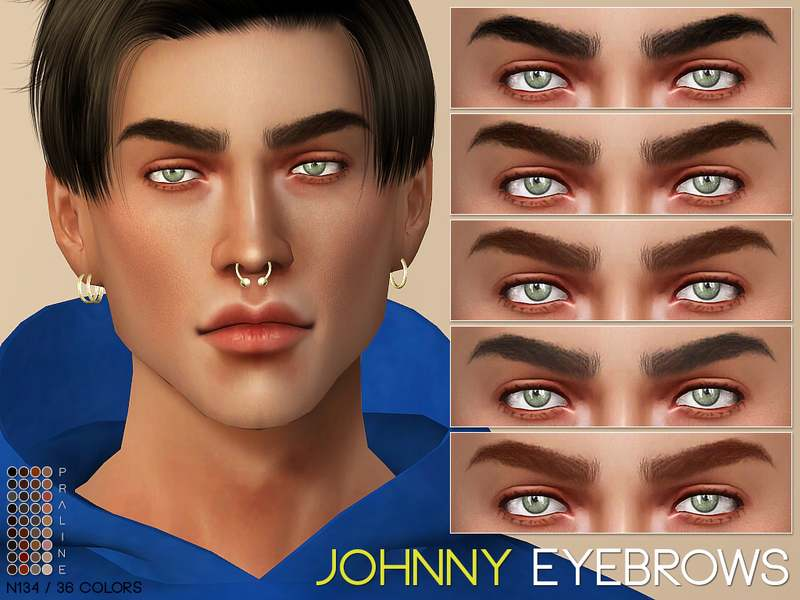 Брови Johnny Eyebrows N135 для Симс 4