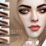 Брови Lucilla Eyebrows N139 от Pralinesims для Симс 4