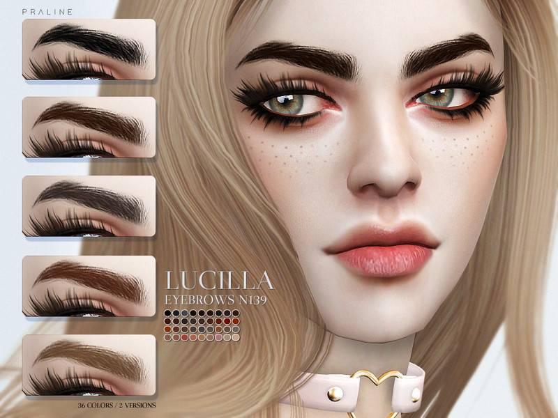Брови Lucilla Eyebrows N139 от Pralinesims для Симс 4