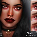 Брови Malory Eyebrows N108 для Симс 4