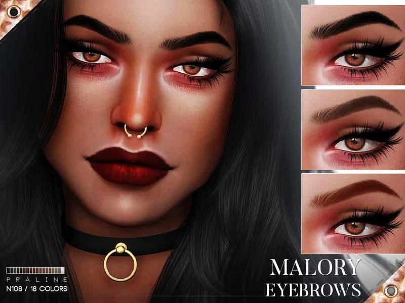Брови Malory Eyebrows N108 для Симс 4
