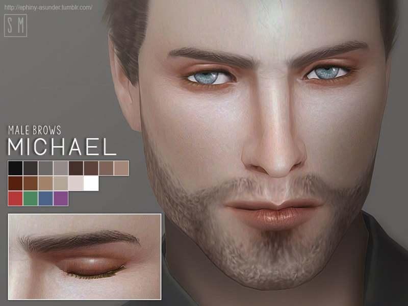 Брови мужские Michael для Симс 4