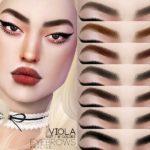 Брови Viola Eyebrows N127 для Симс 4