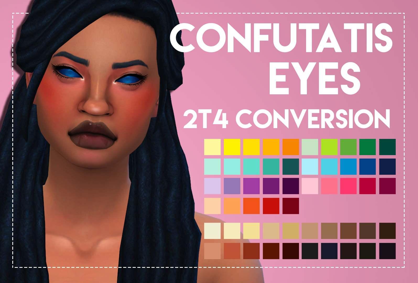 Глаза Confutatis Eyes от Weepingsimmer's для Симс 4
