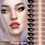 Глаза гетерохромия Poppy Eyes N151 от Pralinesims для Симс 4