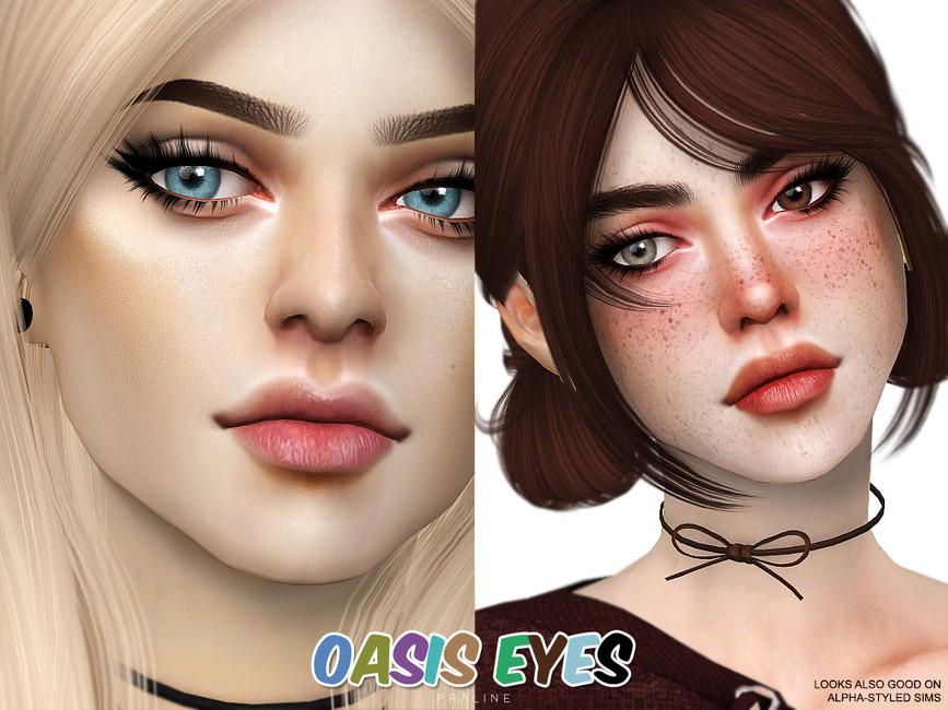 Глаза Oasis Eyes N155 от Pralinesims для Симс 4 (картинка 3)