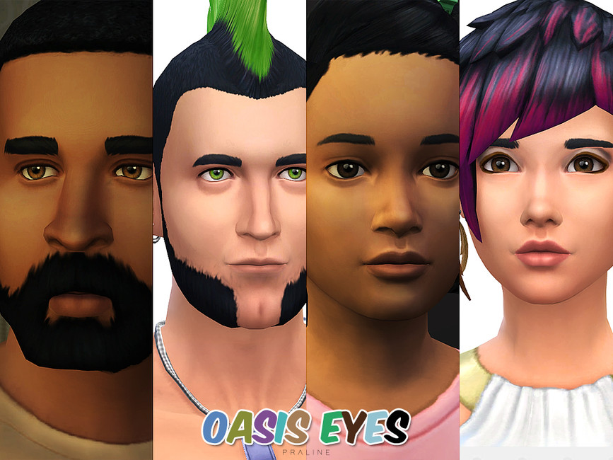 Глаза Oasis Eyes N155 от Pralinesims для Симс 4 (картинка 4)