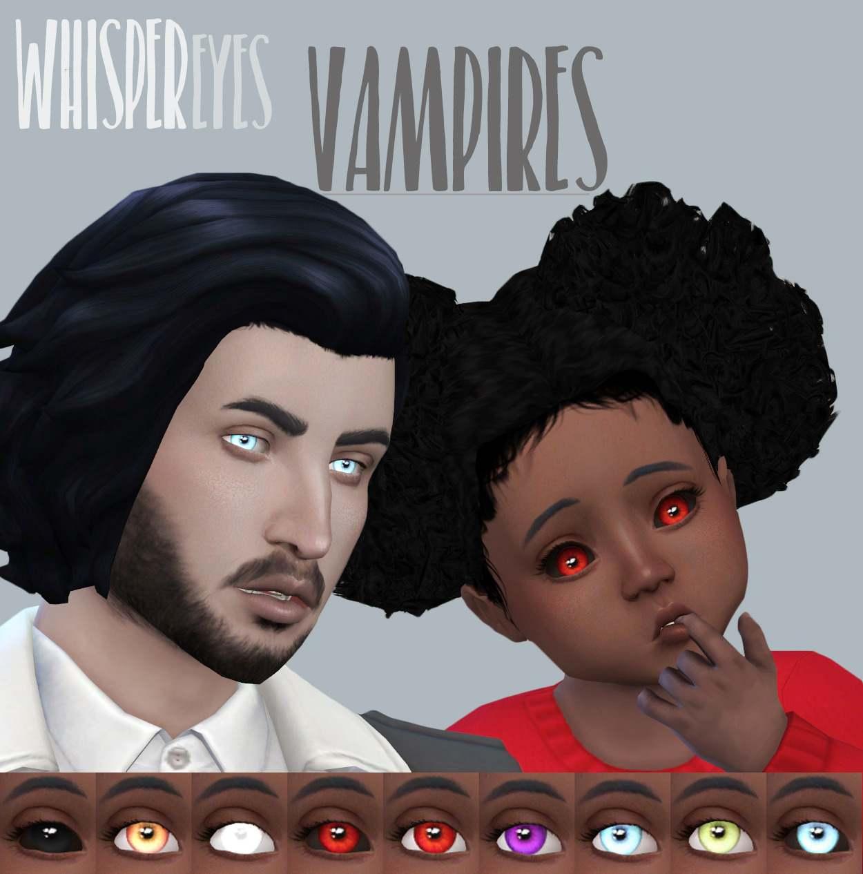 Глаза Whisper Eyes Vampires от DFJ для Симс 4