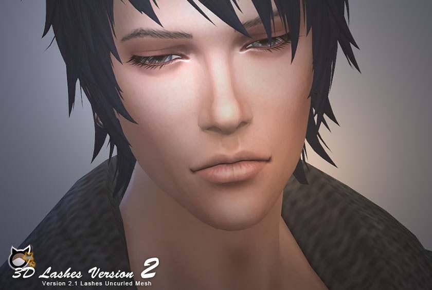 Набор ресниц 3D Lashes Uncurled Eyelashes Edition от Kijiko для Симс 4