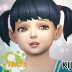 Набор ресниц 3D Lashes Version 2 for kids от Kijiko для Симс 4