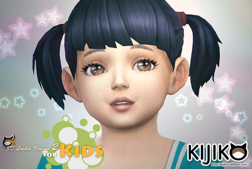 Набор ресниц 3D Lashes Version 2 for kids от Kijiko для Симс 4