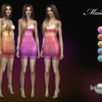 Платье Maiora от jomsims для Симс 4