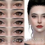 Подводка для глаз eyelashes 201802 для Симс 4