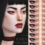 Подводка для глаз Kara Eyeliner N87 для Симс 4