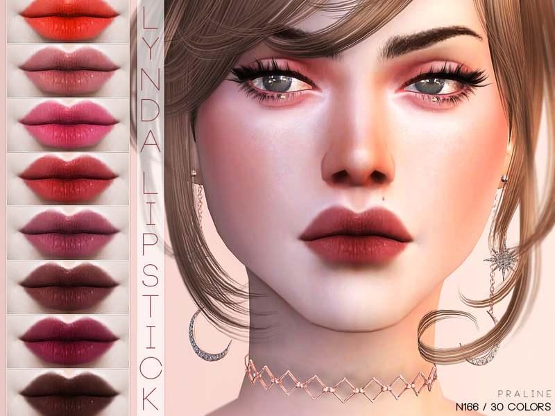 Помада Lynda Lipstick N166 для Симс 4