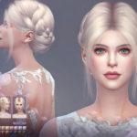 Прическа Audrey от S-Club для Симс 4