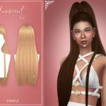 Прическа Innocent от Enriques4 для Симс 4