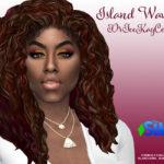 Прическа Island Waves от drteekaycee для Симс 4