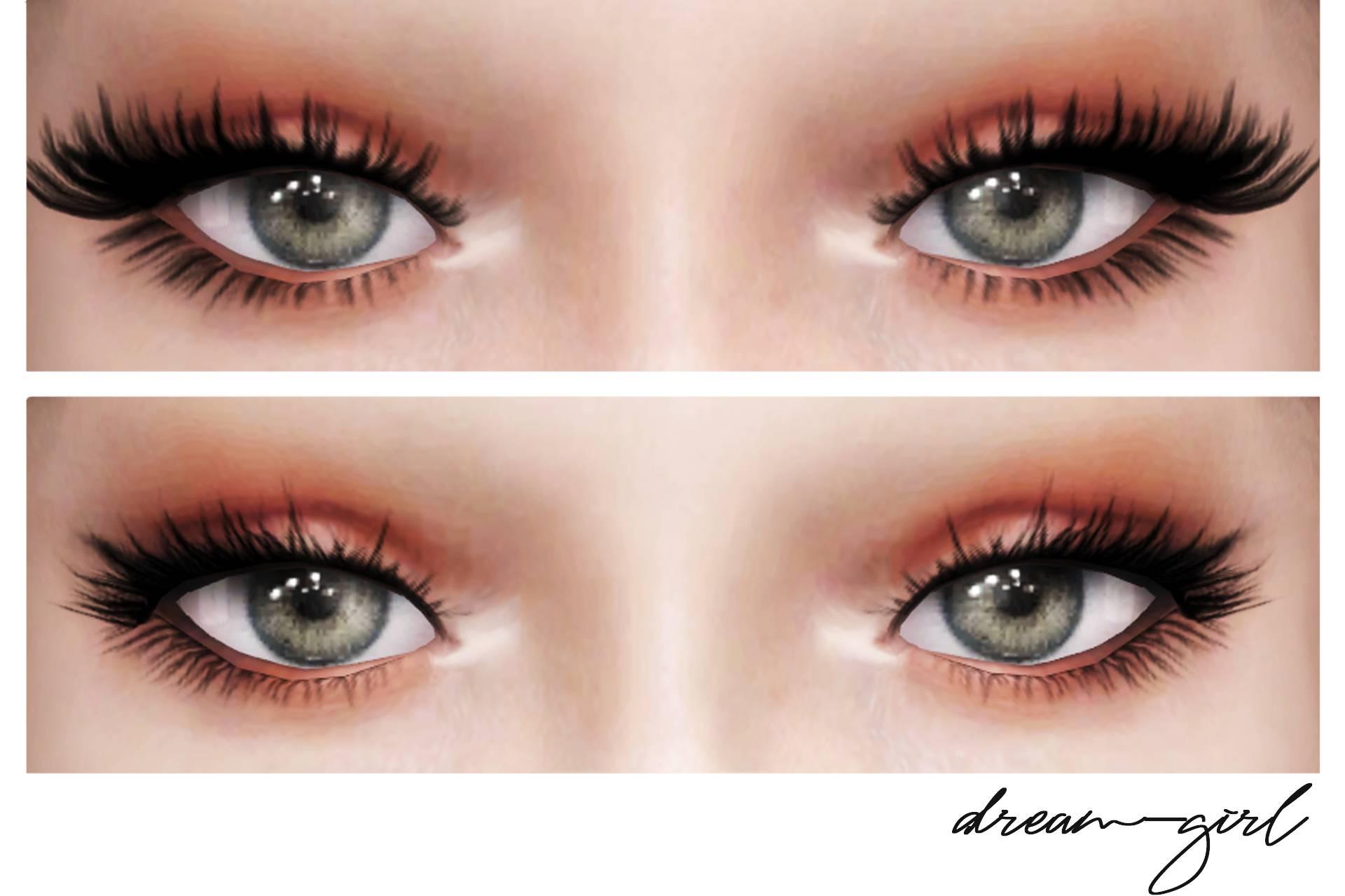 Ресницы 3D Lashes V2 от DREAM-GIRL для Симс 4