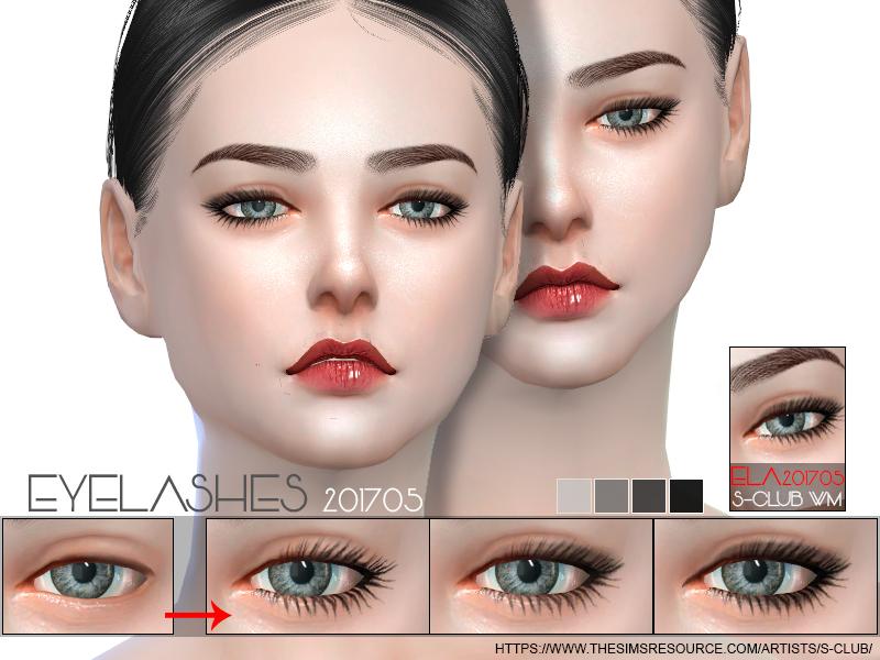Ресницы eyelashes 201705 от S-Club для Симс 4
