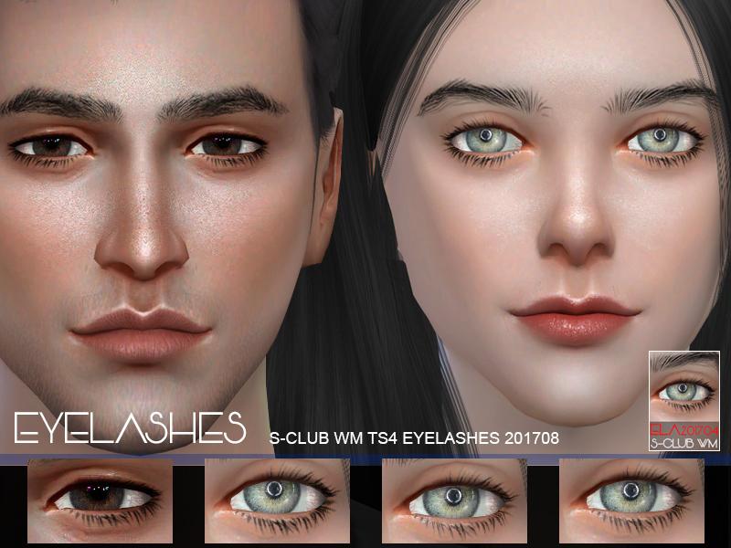 Ресницы eyelashes 201708 от S-Club для Симс 4