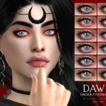 Тени для век DAWN Under Eyeshadow N72 для Симс 4