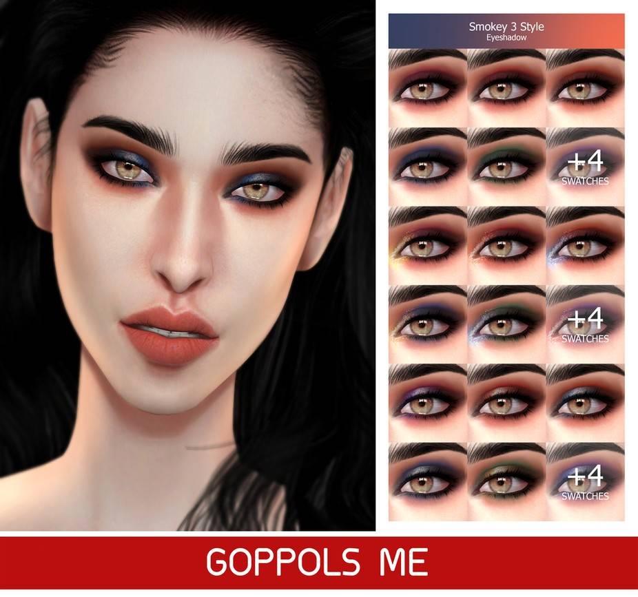 Тени для век Smokey 3 Style Eyeshadow для Симс 4