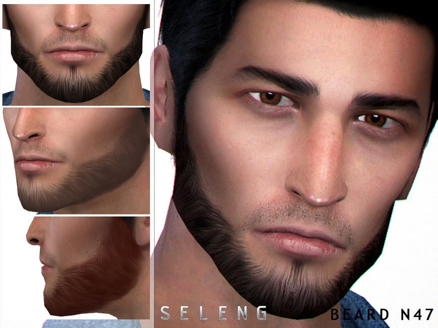 Борода Beard N47 для Симс 4