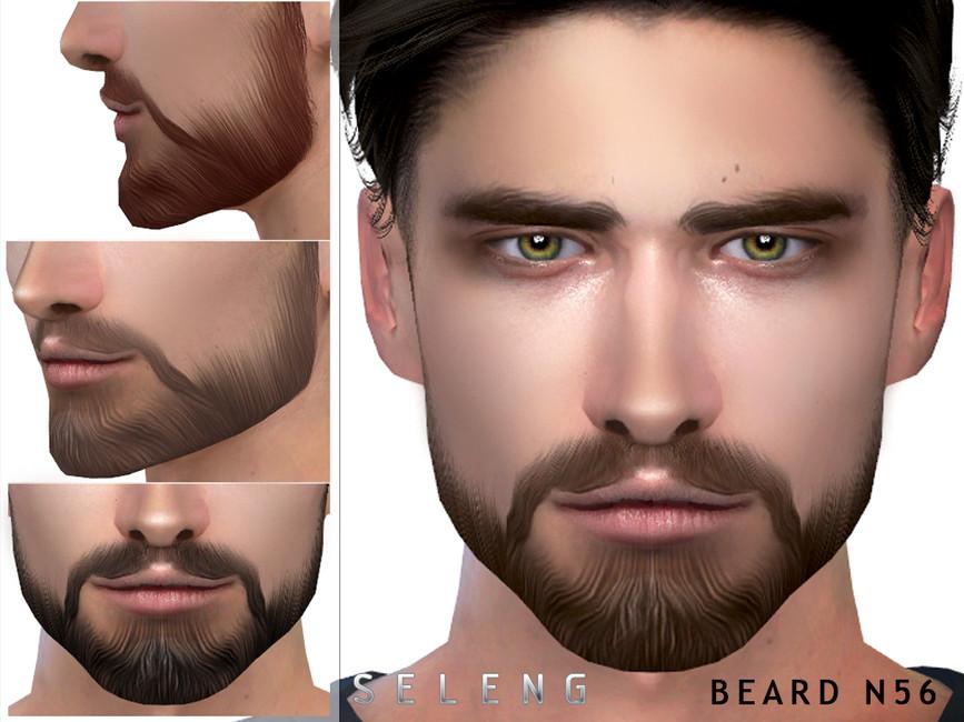 Борода для мужчин Симс 4