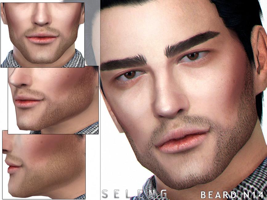 Мод борода Симс 4
