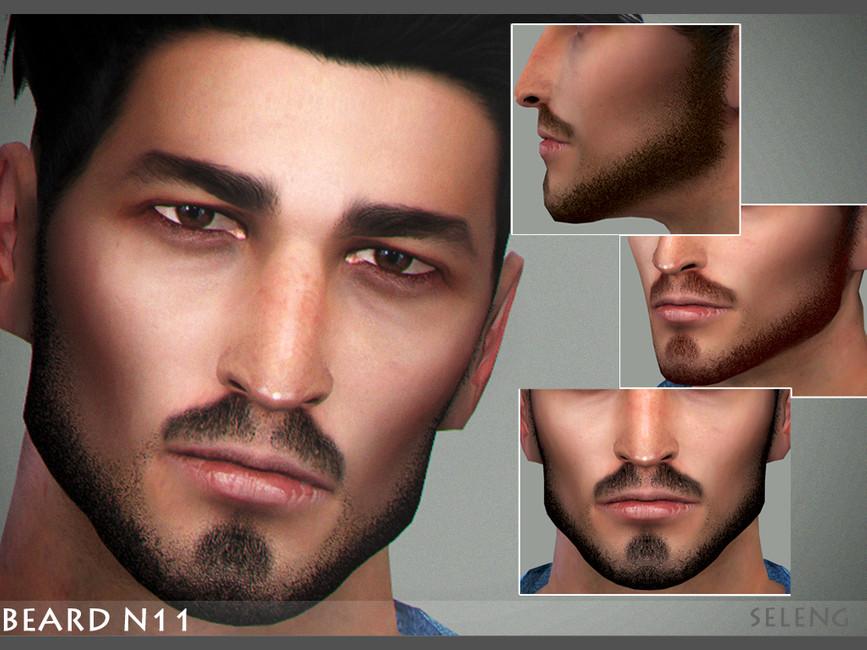 Моды борода и усы Симс 4